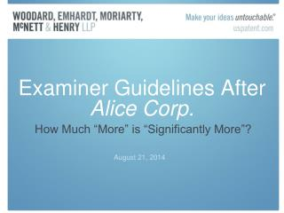 Examiner Guidelines After  Alice Corp.