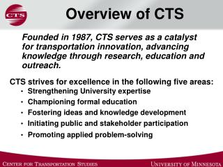 Overview of CTS