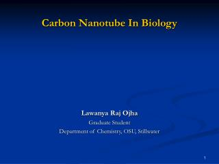 Carbon Nanotube In Biology