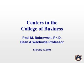 Centers in the  College of Business