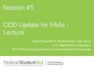 COD Update for FAAs - Lecture