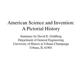 American Science and Invention: A Pictorial History