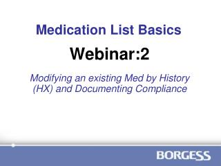 Medication List Basics