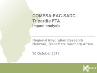 COMESA-EAC-SADC Tripartite FTA  Impact analysis