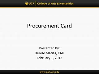 Procurement Card