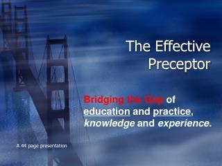The Effective Preceptor