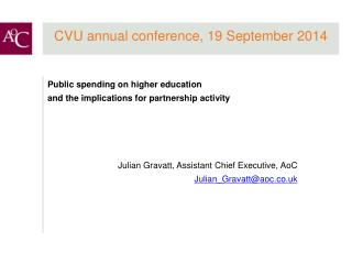 CVU annual conference, 19 September 2014