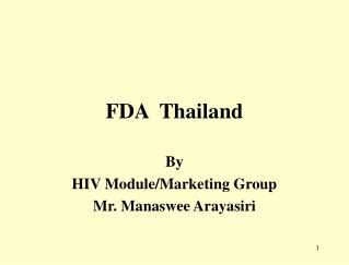 FDA Thailand