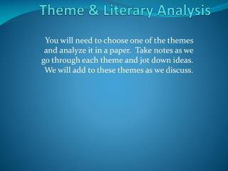 The Cay  Theme & Literary Analysis