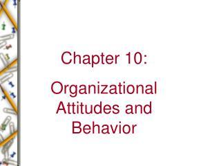 Chapter 10: Organizational Attitudes and Behavior