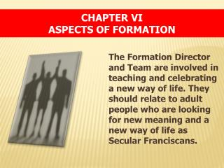 Chapter  VI Aspects of Formation