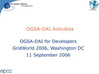 OGSA-DAI Activities
