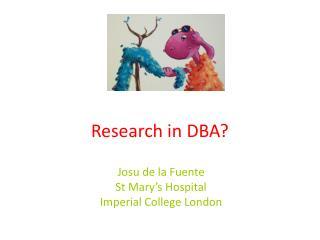 Research in DBA?