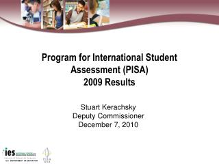 Program for International Student  Assessment PISA  2009 Results