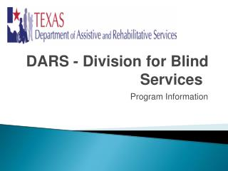 DARS - Division for Blind Services