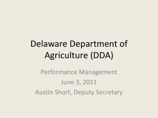 Delaware Department of Agriculture (DDA)