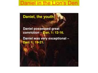 Daniel in the Lion�s Den