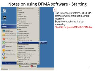 Notes on using DFMA software - Starting