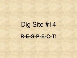 Dig Site #14