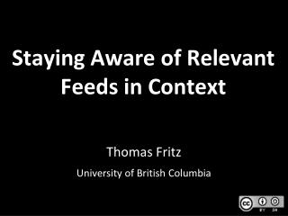 Staying Aware of Relevant Feeds in Context