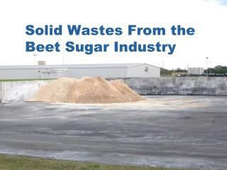 Solid Wastes From the Beet Sugar Industry