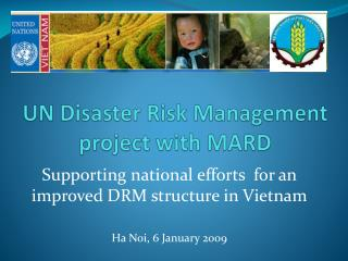 UN Disaster Risk Management project with MARD