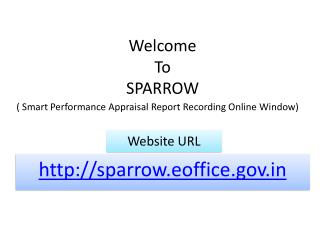 Welcome  To  SPARROW