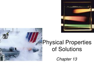 Physical Properties of Solutions