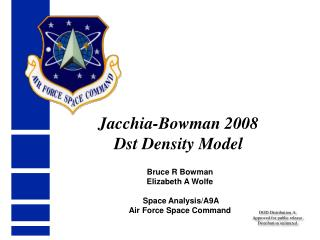 Jacchia-Bowman 2008 Dst Density Model