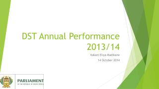 DST Annual Performance 2013/14