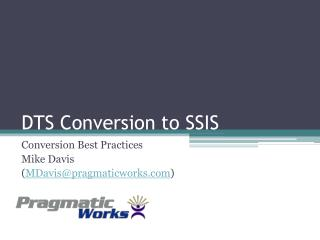 DTS Conversion to SSIS