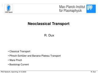 Neoclassical Transport