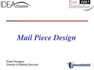 Mail Piece Design