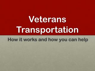 Veterans Transportation