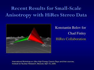 Recent Results for Small-Scale Anisotropy with HiRes Stereo Data