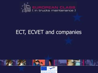 ECT, ECVET and companies