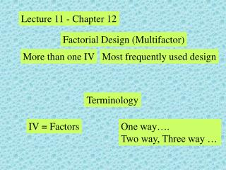 Lecture 11 - Chapter 12