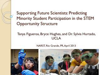 Tanya Figueroa, Bryce Hughes, and Dr. Sylvia Hurtado, UCLA NARST, Rio Grande, PR, April 2013