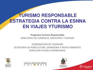 TURISMO RESPONSABLE ESTRATEGIA CONTRA LA ESNNA EN VIAJES YTURISMO