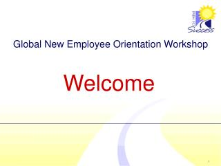 Global New Employee Orientation Workshop