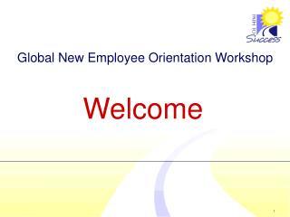 Global New Employee Orientation Workshop