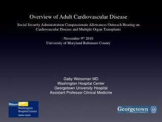 Gaby Weissman MD Washington Hospital Center Georgetown University Hospital