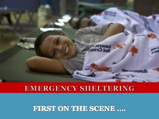EMERGENCY SHELTERING
