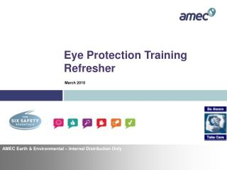 Eye Protection Training Refresher