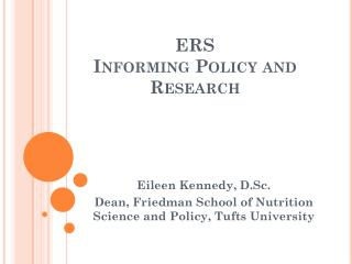 ERS  Informing Policy and Research