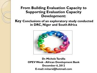 From Building Evaluation Capacity to Supporting Evaluation Capacity Development:
