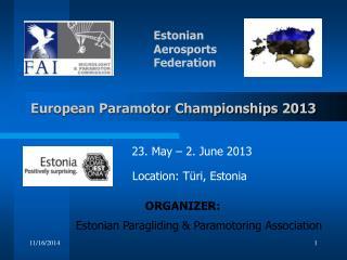European Paramotor Championships 2013