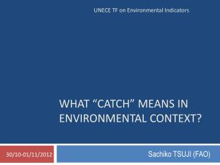 What �Catch� means in environmental context?