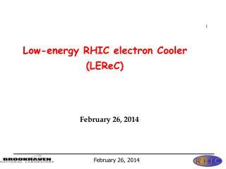 Low-energy RHIC electron Cooler                   ( LEReC )