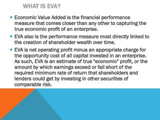 What is EVA?